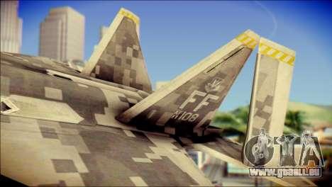 F-22 Raptor Digital Camo für GTA San Andreas zurück linke Ansicht