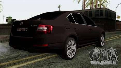Skoda Octavia Police pour GTA San Andreas laissé vue