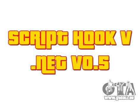 Script Hook V .NET v0.5 pour GTA 5