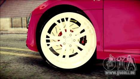 Audi R8 V10 Plus 5.2 FSI 2013 pour GTA San Andreas sur la vue arrière gauche