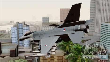 F-16AM Fighting Falcon pour GTA San Andreas laissé vue