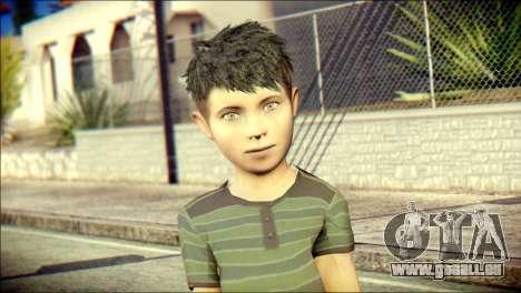 Dante Brother Child Skin pour GTA San Andreas troisième écran