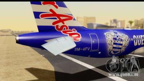Airbus A320-200 AirAsia Queens Park Rangers für GTA San Andreas Rückansicht