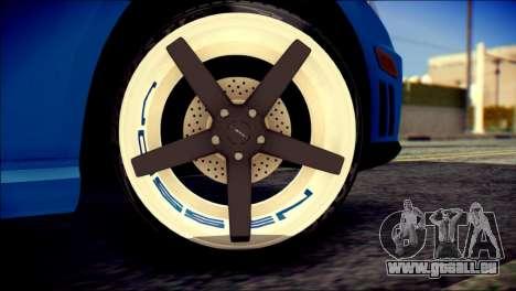 Mercedes-Benz AMG pour GTA San Andreas sur la vue arrière gauche