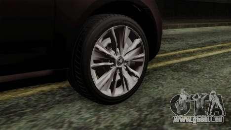 Skoda Octavia Police pour GTA San Andreas sur la vue arrière gauche