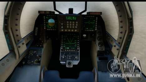 F-2A Viper Blue pour GTA San Andreas vue intérieure