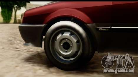 GTA 5 Dinka Blista Compact pour GTA San Andreas vue intérieure