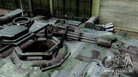 M1A2 Abrams Woodland Blue Camo für GTA San Andreas Rückansicht