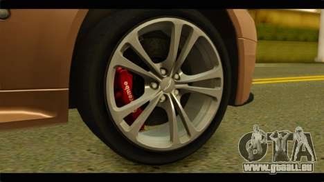 Aston Martin V12 Vantage für GTA San Andreas zurück linke Ansicht