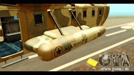 GTA 5 Cargobob pour GTA San Andreas laissé vue