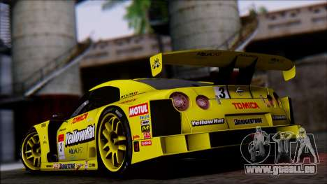 Nissan GTR R35 JGTC Yellowhat Tomica 2008 pour GTA San Andreas laissé vue