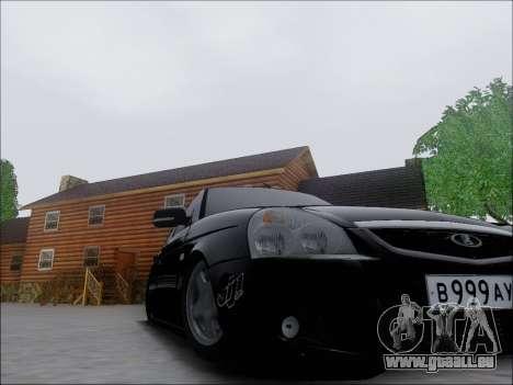 Lada Priora Hatchback pour GTA San Andreas vue intérieure