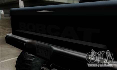 Monster Bobcat für GTA San Andreas Rückansicht