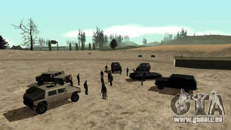 DLC 3.0 Militaire mise à jour pour GTA San Andreas deuxième écran