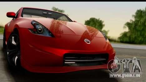 Nissan 370Z Nismo 2010 pour GTA San Andreas sur la vue arrière gauche