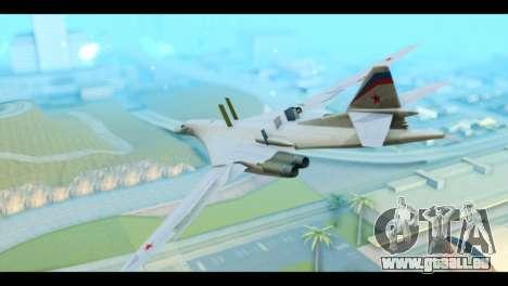 TU-160 Blackjack pour GTA San Andreas laissé vue