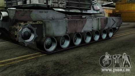 M1A2 Abrams Woodland Blue Camo für GTA San Andreas zurück linke Ansicht