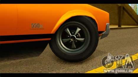 GTA 5 Declasse Sabre GT Turbo IVF für GTA San Andreas zurück linke Ansicht