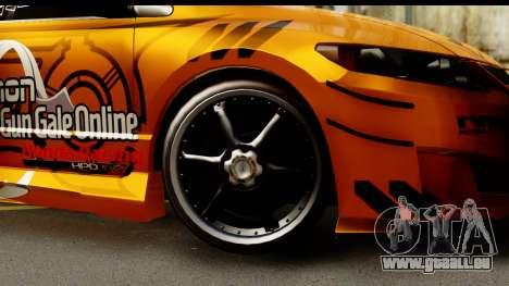 Honda Civic SI Juiced Tuned Shinon Itasha für GTA San Andreas Rückansicht