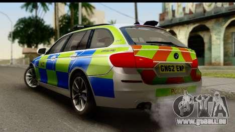 BMW 530d Kent Police RPU pour GTA San Andreas laissé vue