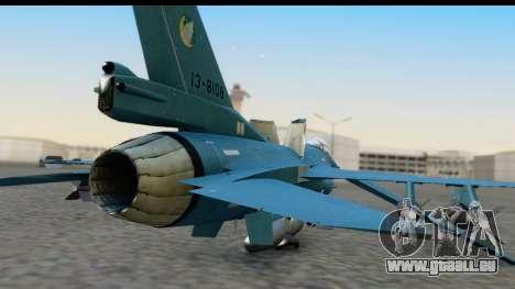 F-2A Viper Blue pour GTA San Andreas vue arrière