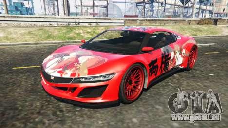 Dinka Jester (Racecar) Senran Kagura Ryobi Itasy pour GTA 5