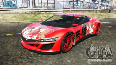 Dinka Jester (Racecar) Senran Kagura Ryobi Itasy für GTA 5