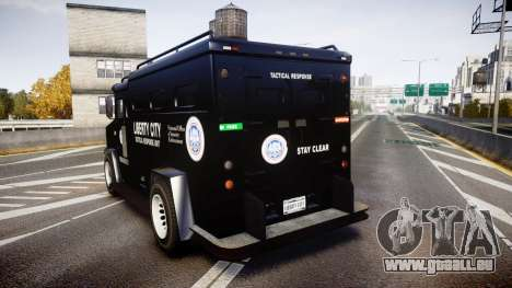 GTA V Brute Police Riot [ELS] skin 2 für GTA 4 hinten links Ansicht
