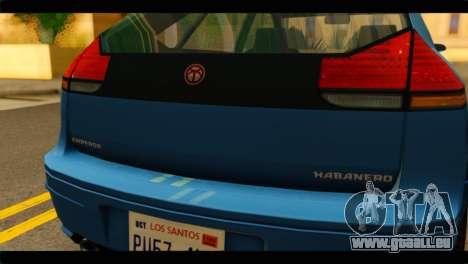 GTA 4 Habanero für GTA San Andreas rechten Ansicht