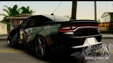 Dodge Charger RT 2015 Sword Art pour GTA San Andreas laissé vue
