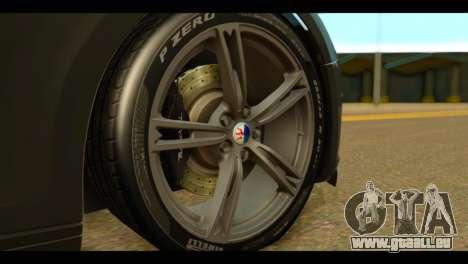 Maserati Ghibli S 2014 v1.0 EU Plate für GTA San Andreas zurück linke Ansicht