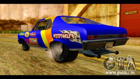 Chevy Nova NOS DRAG pour GTA San Andreas laissé vue