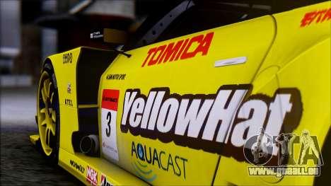 Nissan GTR R35 JGTC Yellowhat Tomica 2008 pour GTA San Andreas vue de droite