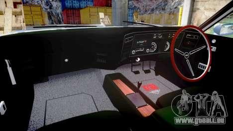 Ford Falcon XB GT351 Coupe 1973 pour GTA 4 est une vue de l'intérieur