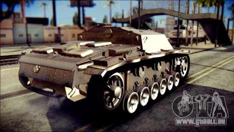 StuG III Ausf. G pour GTA San Andreas laissé vue