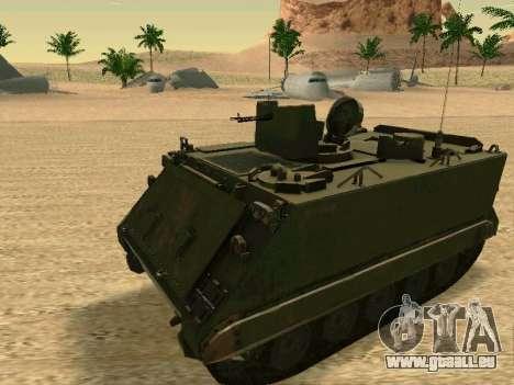 Le M113 Blindés De Transport De Personnel pour GTA San Andreas laissé vue