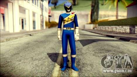 Power Rangers Kyoryu Blue Skin pour GTA San Andreas