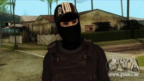 Sicario Skin v10 pour GTA San Andreas troisième écran