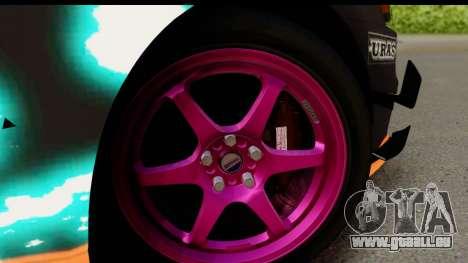 Mitsubishi Lancer Evolution X 2014 Itasha pour GTA San Andreas vue arrière