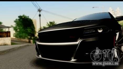 Dodge Charger RT 2015 Sword Art für GTA San Andreas zurück linke Ansicht