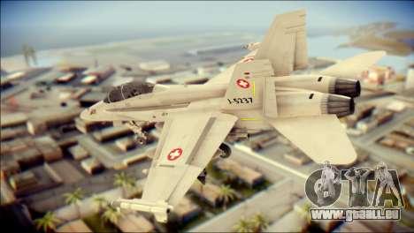 F-18D Swiss Air Force pour GTA San Andreas laissé vue