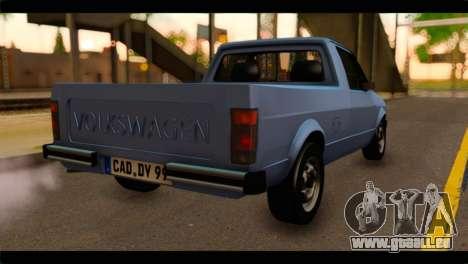 Volkswagen Caddy Mk1 Stock pour GTA San Andreas laissé vue