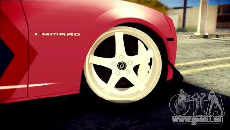 Chevrolet Camaro ZL1 Indonesian Police v2 pour GTA San Andreas sur la vue arrière gauche
