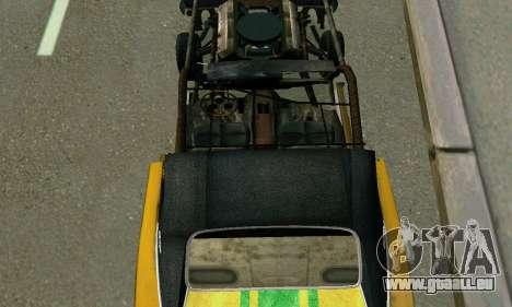 Dodge Charger RT HL2 EP2 pour GTA San Andreas vue de dessus