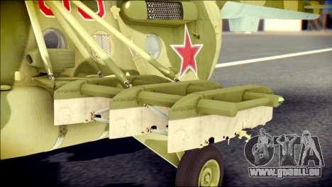 Mi-8 Hip pour GTA San Andreas vue de droite