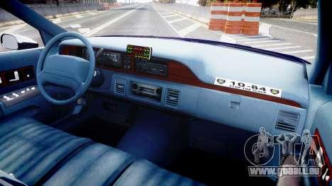 Chevrolet Caprice 1993 LCPD WH Auxiliary [ELS] für GTA 4 Rückansicht