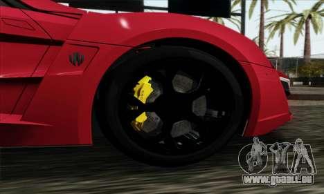 Lykan Hypersport 2014 Livery Pack 1 pour GTA San Andreas sur la vue arrière gauche