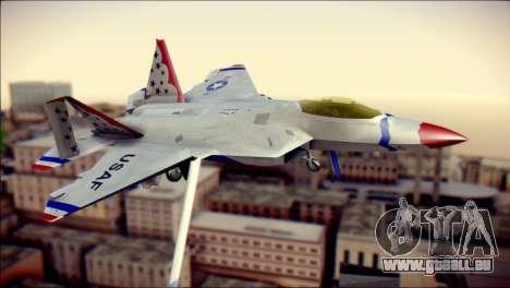 F-22 Raptor Thunderbirds pour GTA San Andreas