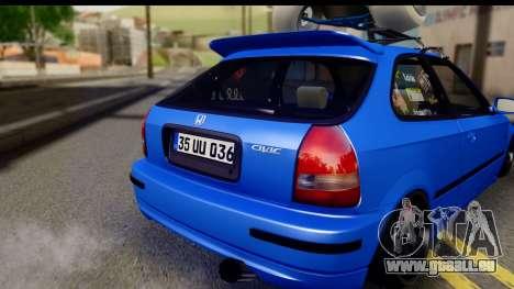 Honda Civic Hatchback pour GTA San Andreas vue de droite
