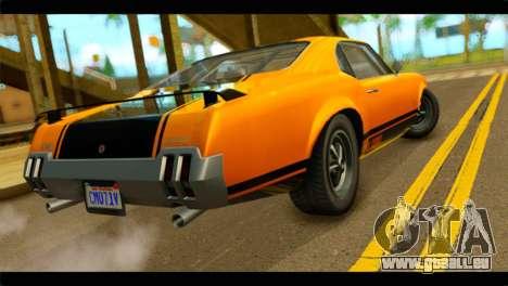 GTA 5 Declasse Sabre GT Turbo IVF pour GTA San Andreas laissé vue
